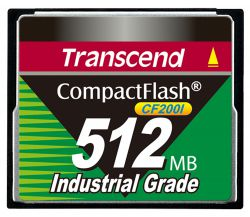 TRANSCEND TS512MCF200I-P    PIO-MODE 21NM
